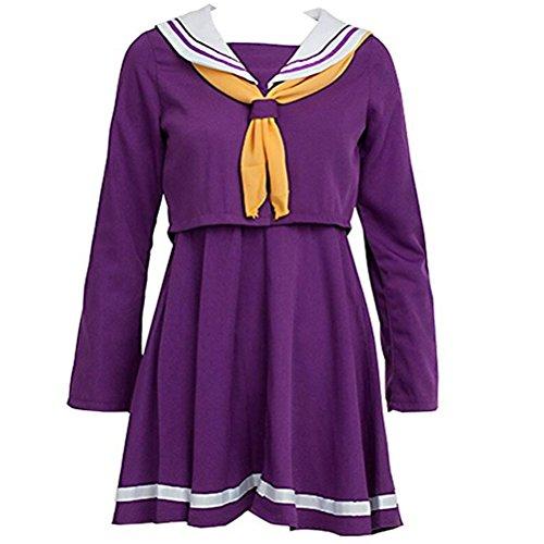 No Game No Life Shiro Costume - Poetic Walk NO GAME NO LIFE Shiro Sailor Suit Cosplay Costume Dress (X-Large, Purple)