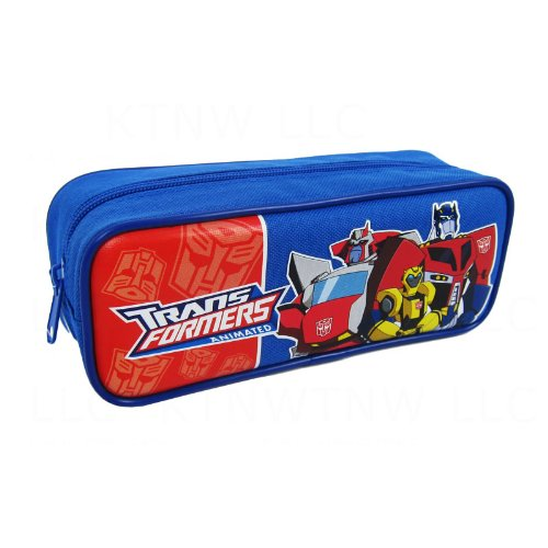 Officially Licensed Transformers Single Zipper Pouch Pencil Case - Ratchet, Bumblebee, and Optimus Prime