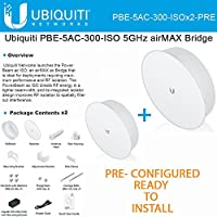 Ubiquiti PBE-5AC-300-ISO 2PACK PRE-CONFIG 5GHz PowerBeam AC Isolated Reflector
