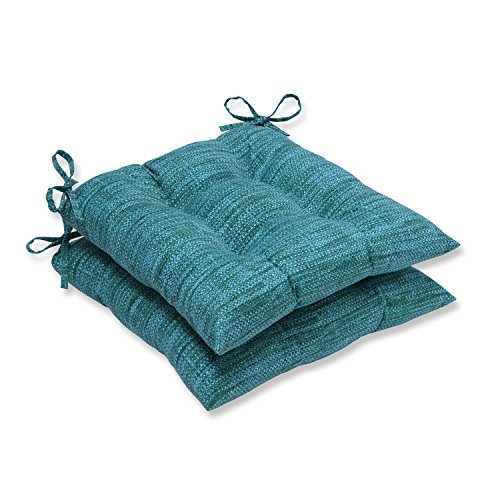 Pillow Perfect Outdoor/Indoor Remi Lagoon Wrought Iron Seat Cushion (Set of 2)