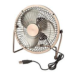Honey-Can-Do OFC-04475 USB Powered Desk Fan, Bronze, 6 x 4.5 x 6,