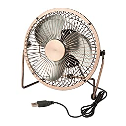 Honey-Can-Do OFC-04475 Compact USB Powered Desk Fan, 6 x 4.5 x 6\