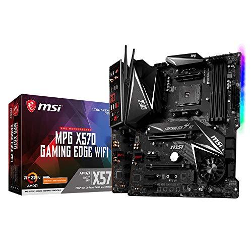 MSI Mpg X570 Gaming Edge Wi-Fi - Placa Base (Chipset AMD X570, DDR4, Audio Boost, Intel Lan, Socket AM4, Wi-Fi, HDMI, Soporta AMD Pocesadores) Color Negro