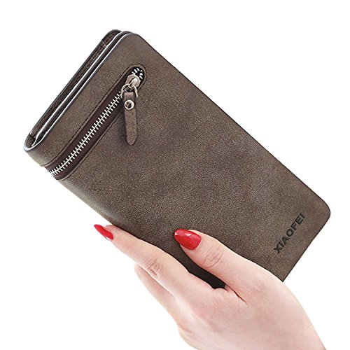Cheryl Bull Fashion Womens Large Capacity Wallet PU Leather Clutch Long Purse Coffee by Cheryl Bull Wallets