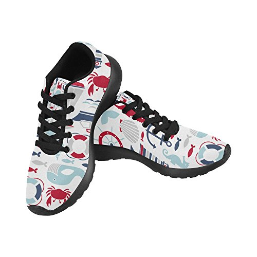 Athletic Colored Women's InterestPrint Lightweight Size 15 Running Nautical 6 Casual Sneakers Pattern Print US Shoes Icon On PdpUqw
