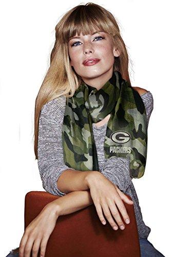 分泌する大きい使役グリーンベイパッカーズ薄手迷彩ファッションスカーフ