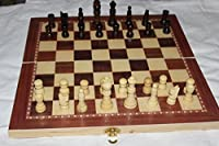 """15"""" standard wooden chess set 2.5"""" king , checkers and backgammon game 3 in one game set best board chess game"""