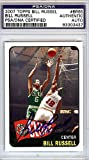 Bill Russell Signed 2007 Topps Trading Card - PSA/DNA Authentication - NBA Basketball Trading Cards