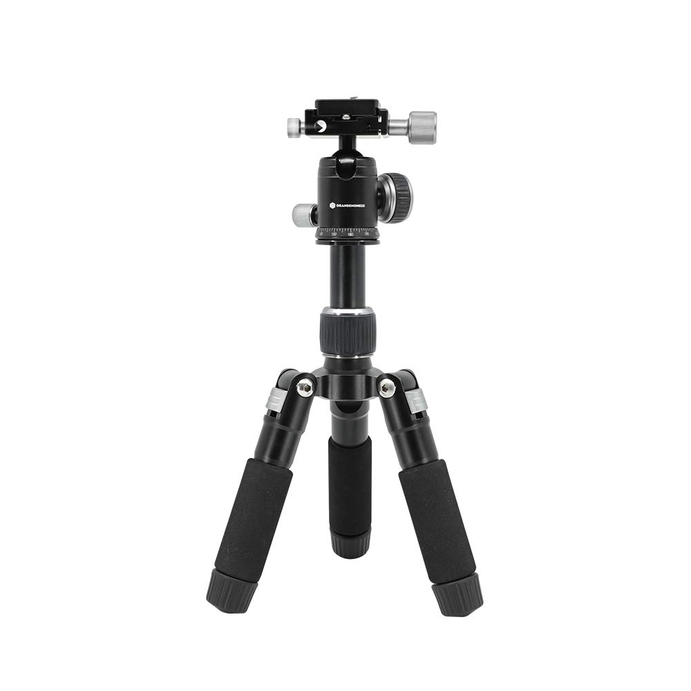 TRIPOD50V (Pan Bar Included/Lightweight Heavy Duty Aluminum Camera Mount Portable Tripod Stand with Non Skid Feet/Compatible with iPhone, Android Phone, DSLR for YouTube Video) by ORANGEMONKIE by foldio foldable studio