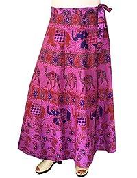 India Long Skirt Wrap Around Block Print Womens Cotton Indian Clothes