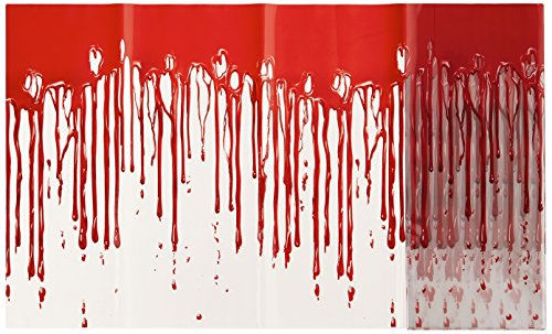 Beistle 00533 Dripping Blood Poly Decorating Material, 12-Inch by 25-Feet]()