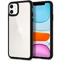 Spigen Coque iPhone 11 [Ultra Hybrid] Bumper Noir en TPU Souple, Dos en PC Rigide et Transparent, Protection - [Air Cushion] Coque Compatible avec iPhone 11 (2019)