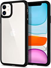 Spigen Coque iPhone 11 [Ultra Hybrid] Bumper Noir en TPU Souple, Dos en PC Rigide et Transparent, Protection - [Air Cushion] Coque Compatible avec iPhone 11 (2019)