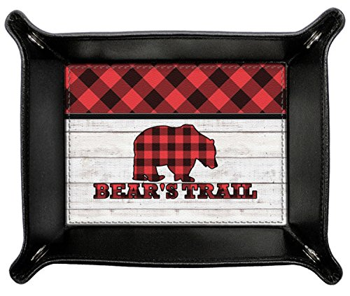Lumberjack Plaid Genuine Leather Valet Tray (Personalized) by RNK Shops