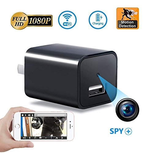 Mini Spy Hidden Camera, Wi-Fi Remote Viewing camera, 1080P HD Surveillance Security Hidden Camera, Indoor USB Wall Charger Camera/Pet Camera/Nanny Cam with Motion Detection