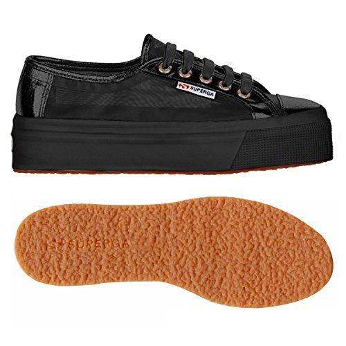 Superga S006JB0, Zapatillas con Plataforma Unisex Adulto Black