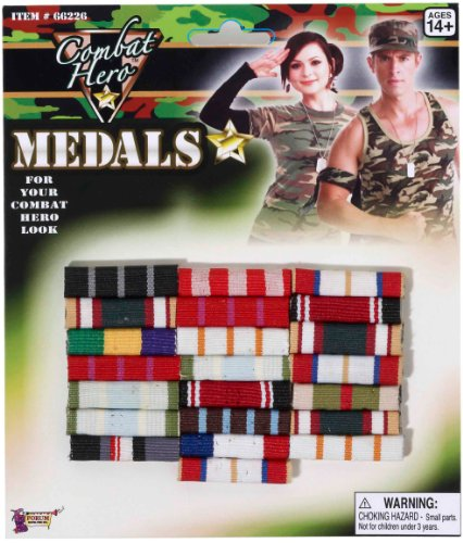 [Forum Novelties Military Medal Bars] (Army Men Halloween Costumes)