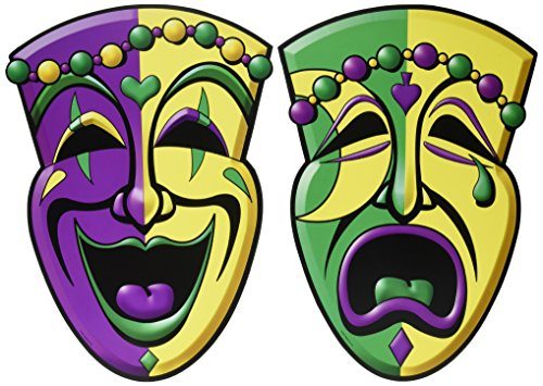 Comedy & Tragedy Face Cutouts   (2/Pkg)