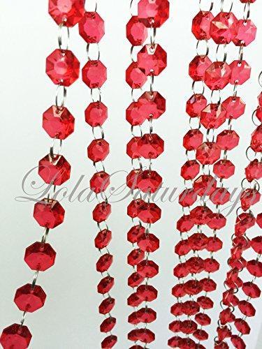 red acrylic crystals - 4