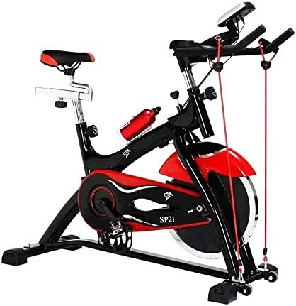Bicicleta spinning 21 con volante de inercia de 21 kilos: Amazon ...