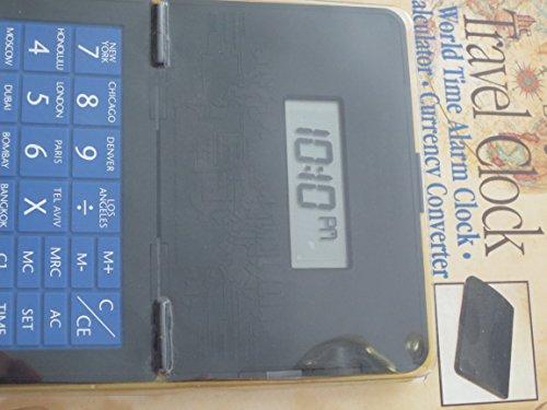 Royal Traveller Travel Clock -- World Time Alarm Clock - Calculator - Currency - Calculator Clock World Alarm Time