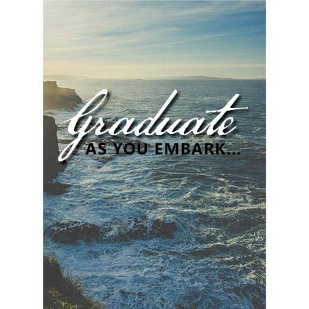 (Romans 5:3-5 set of 4 Graduation Cards with white)