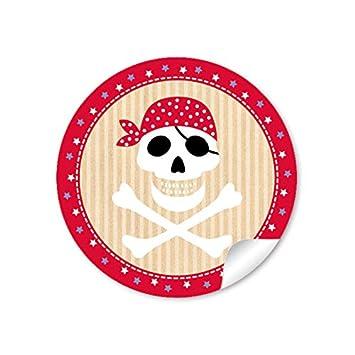 72 pegatinas: pegatinas de regalo de pirata con calavera ...