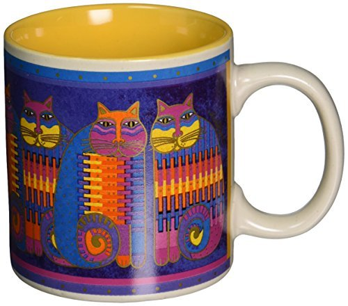 Laurel Burch Artistic Collection Mug, Rainbow Cat Cousins, Multicolor by Laurel Burch