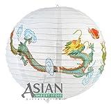 4 PCS. 16'' Twin Fortune Dragons Paper Lantern, Home Party Decor