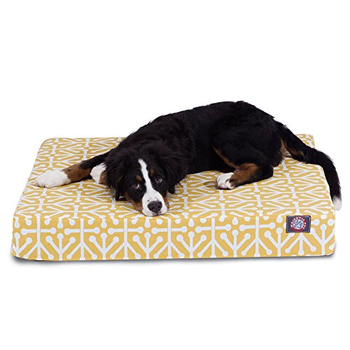 good Majestic Pet Citrus Aruba Orthopedic Memory Foam Rectangle Dog Bed