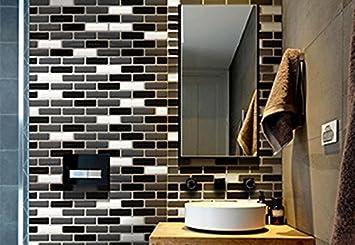 tile  u0026 sticker the new upgrade 3d gel mosaic effect self adhesive splashback tile sticky tile  u0026 sticker the new upgrade 3d gel mosaic effect self adhesive      rh   amazon co uk