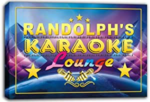 scpk1-0375 RANDOLPH'S Karaoke Lounge Bar Beer Stretched Canvas Print Sign