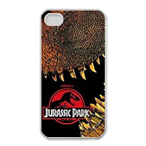 iphone4 4s case(TPU), jurassic park dvd Cell phone case White for iphone4 4s - HHKL3341691