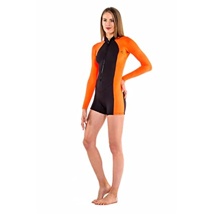 Glidesoul 2mm Front Zip Spring Suit, Peach/Black, X-Small