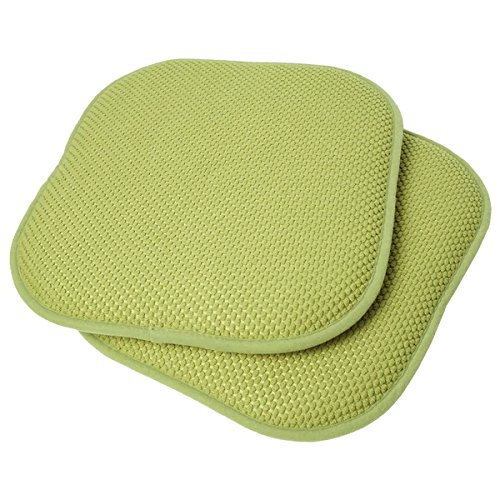 Indoor/Outdoor Non-Slip Back Chair/Seat Cushion Pad 2-Pack, 16