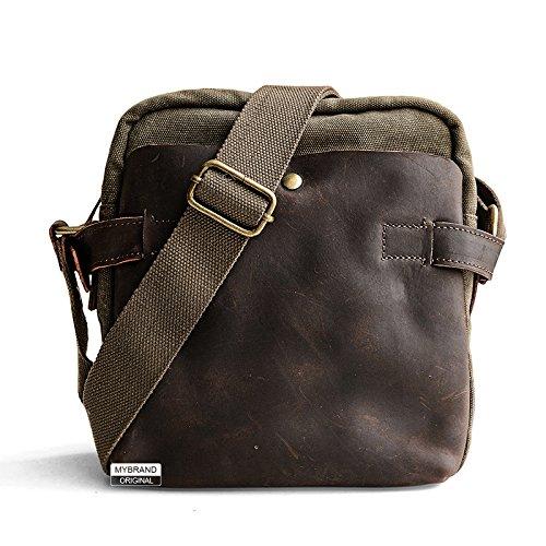 nbsp; Lona hombro Bolsa ocio pequeña hombres de Cuero bolsa con bolsa mochila mensajero 7 de nbsp;cm 24 1 de 1 nbsp; cuadrada Mochila 22 A77Hr6