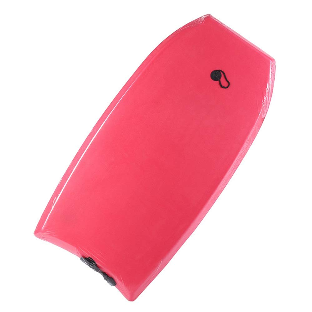 サーフィンボディボード 子供および大人のためのEPSの中心の滑らかな底そしてひもが付いている正方形の形の夏のサーフィンボディボード (色 : 赤, サイズ : 43.3inch) 赤 43.3inch