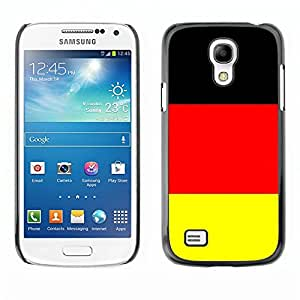 TopCaseStore / la caja del caucho duro de la cubierta de protección de la piel - Germany Flag; - Samsung Galaxy S4 Mini i9190 MINI VERSION!
