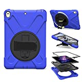 PPSHA iPad Pro 10.5 inch Case, Heavy Duty Hybrid Shockproof Protection Cover Built With Kickstand and Hand Strapfor Apple iPad Pro 10.5 Tablet (2017 Model) (Blue)