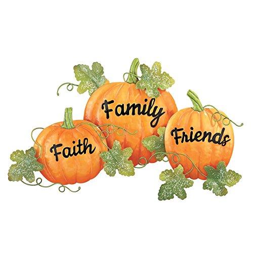 Faith Friends And Family Pumpkin Wall Decor - Thanksgiving wall art
