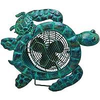 DecoBREEZE Table Fan Two-Speed Electric Circulating Fan, Sea Turtle Figurine Fan