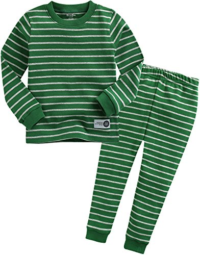 Vaenait baby Kids Boys Sleepwear Pajama 2pcs Set Color Pen Green XS -