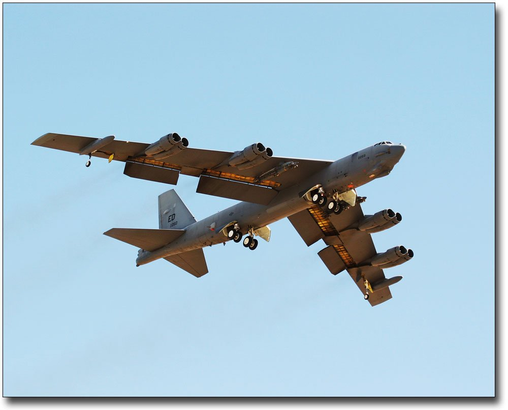 B-52 Bomber w/ Flaps and Landing Gear Down 8x10 Silver Halide Photo Print