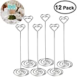ULTNICE 12pcs Heart Shape Table Number Holders Name Card Holders Memo Clip