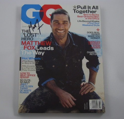 Lost Actor Matthew Fox Signed Autographed GQ Fashion