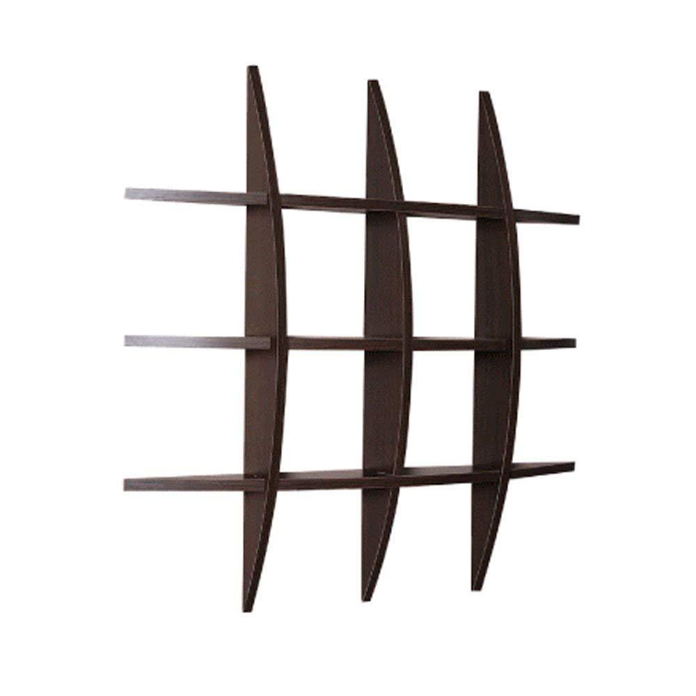シンプルな木製フレーム壁掛け壁仕切り寝室の壁掛け棚キッチン壁掛け収納棚(75×75×10cm)(カラー:B) 棚収納 (色 : B) B07R7G2586 B