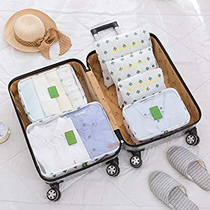 8Pcs Waterproof Travel Storage Bags Clothes Packing Cube Luggage Organizer Pouch