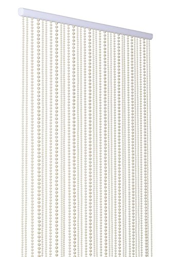 ShopWildThings Beaded Curtain Pearls Ivory Acrylic - Pearl Beaded Curtain