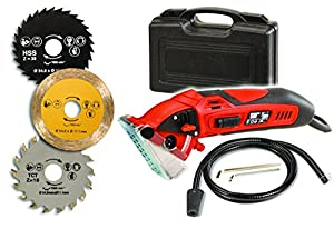 Rotorazer Multi Purpose Circular Mini Saw With 3 Interchangeable Blades And Dust Extraction