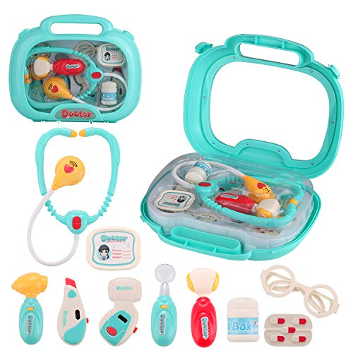 wodtoizi Dentist Toy with Sounds and Lights Kids Doctor Kit Pretend Play Dentist Set Medical Playset Storage Box Boys Girls Birthday Christmas Gifts School Classroom Party Role Play